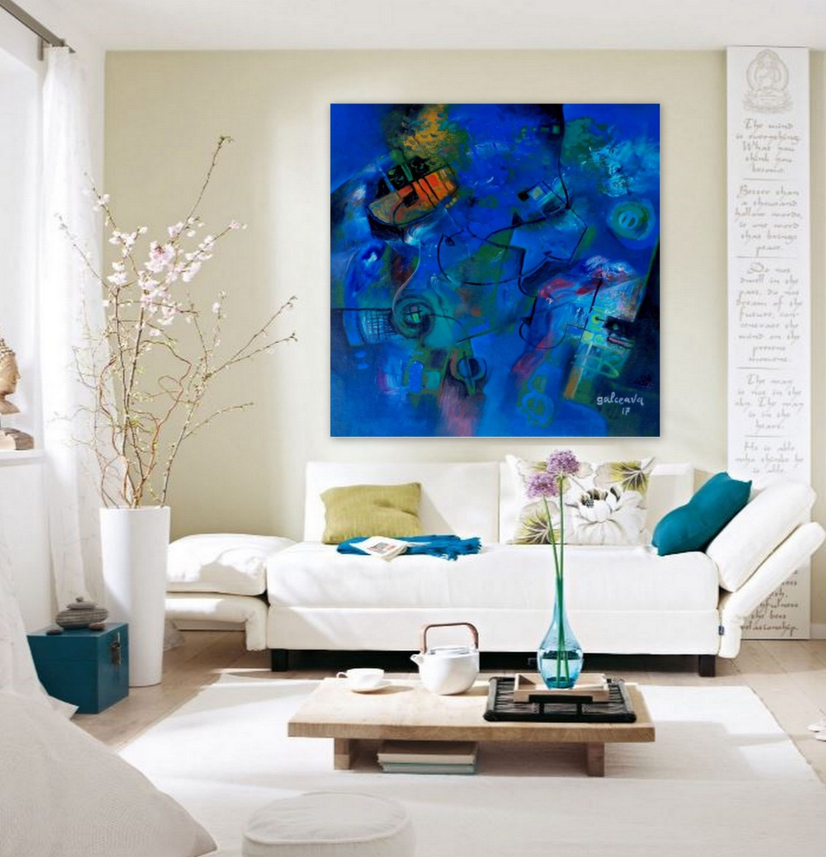 A personal favorite from my Etsy shop https://www.etsy.com/listing/577973326/modern-abstract-art-living-room-decor