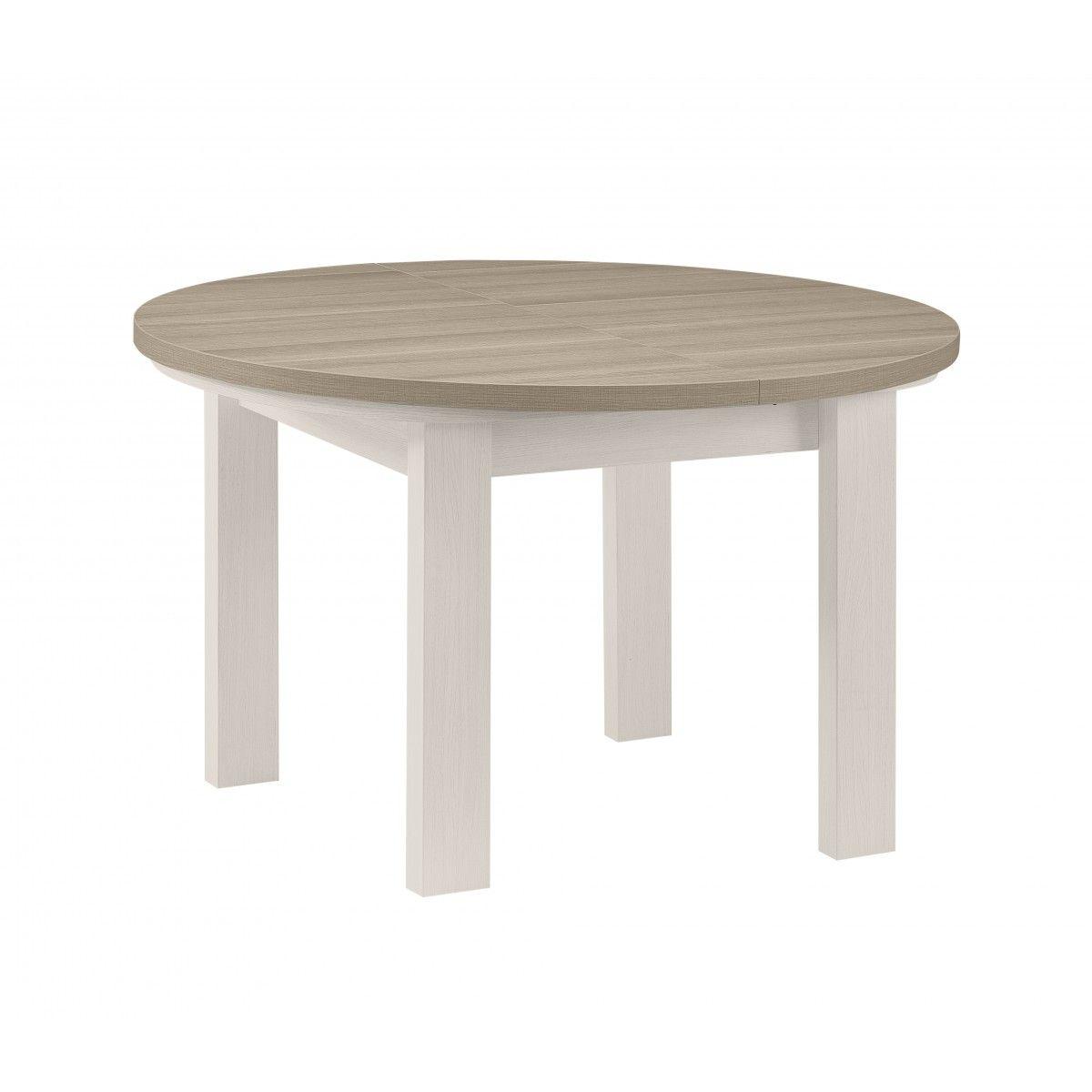 Mesa redonda extensible toscana mesas comedor mesa for Mesas auxiliares conforama