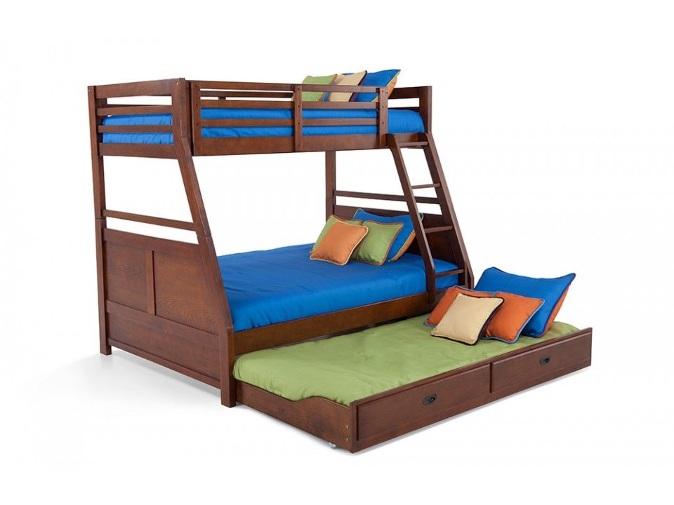 Chadwick Twin Full Bunk Bed With Trundle Bob S Discount