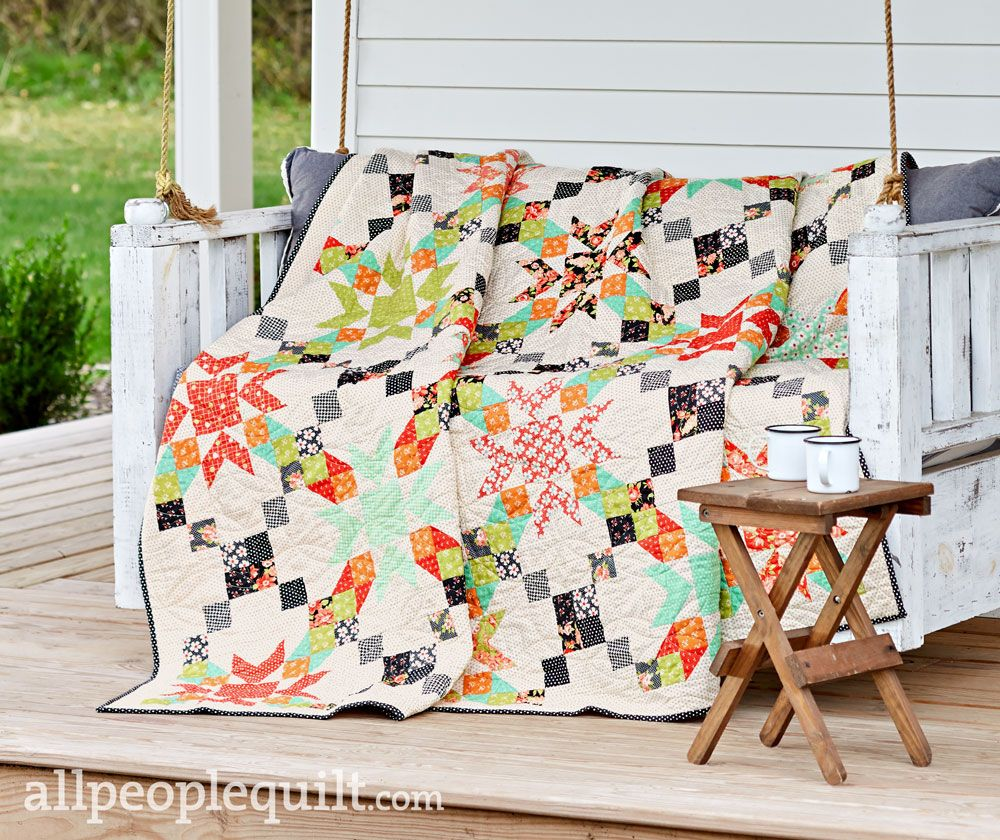 American Patchwork & Quilting April 2019 is part of American patchwork and quilting, Spring quilts, Quilts, Patchwork quilts, House quilts, Moda fabric quilts - See the featured quilts and webexclusive color options and projects from the American Patchwork & Quilting April 2019 issue