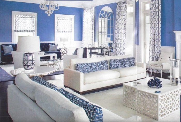 Wohnzimmer farblich gestalten 71 Wohnideen mit der Farbe Blau - wohnzimmer farblich gestalten