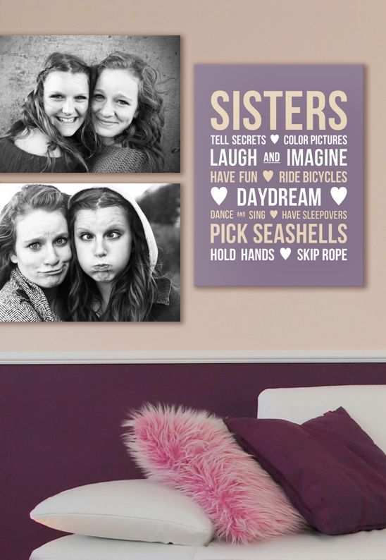 Sisters Room Wall Display Sister Room Sisters Wall Display