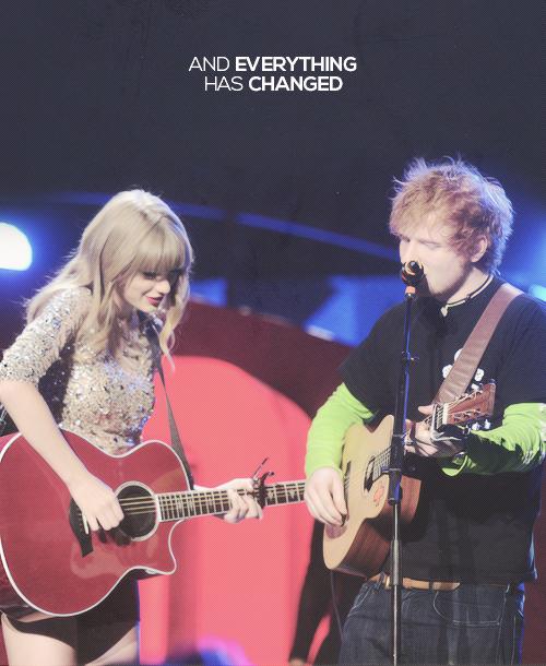 Taylor Swift with Ed Sheeran Taylor