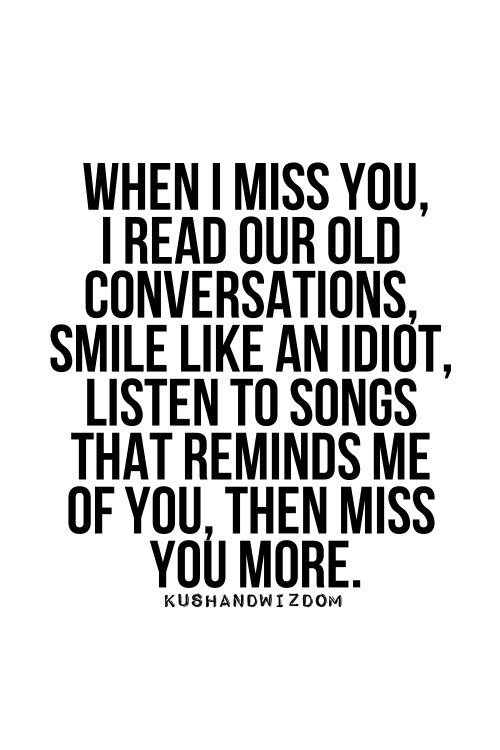 I miss you more than i should