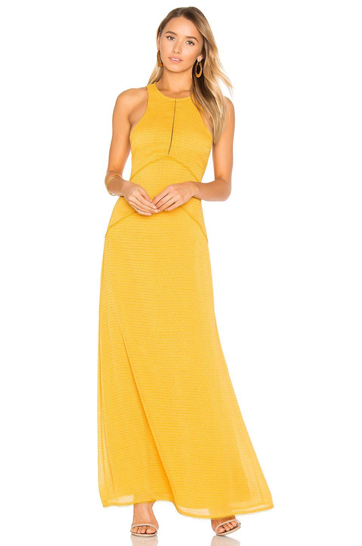 House of harlow x revolve allegra maxi dress in mustard wear