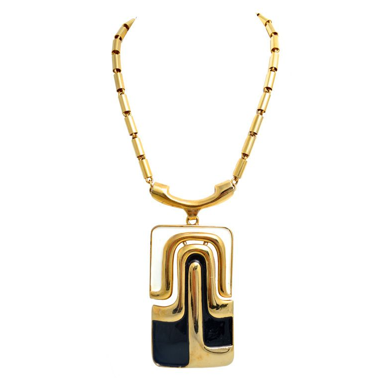 Pierre cardin modernist large pendant necklace 1960s pierre pierre cardin modernist large pendant necklace 1960s aloadofball Choice Image