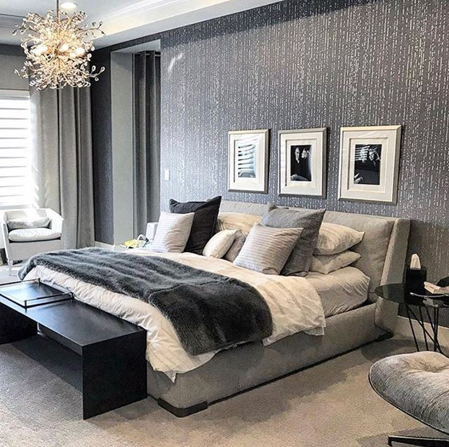 Metallic Accent Wall Besroom: DIY Painted And Stenciled Master Bedroom Metallic Accent
