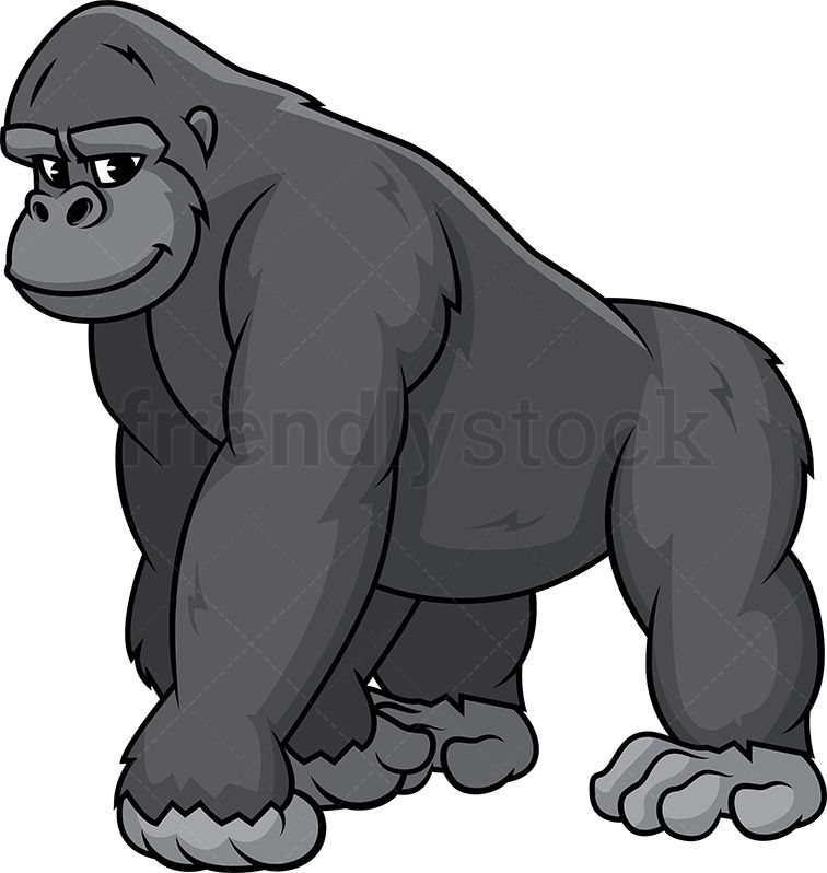 Wild Gorilla Gorilla Illustration Cartoon Clip Art Cartoon
