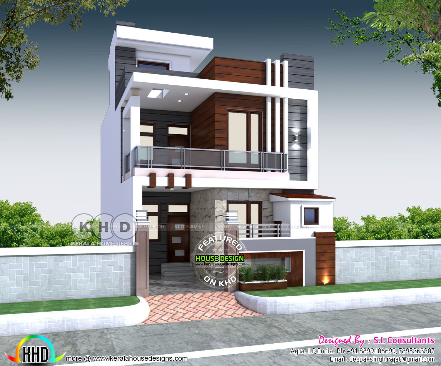 23 X 55 House Plan With 3 Bedrooms Fachadas In 2019