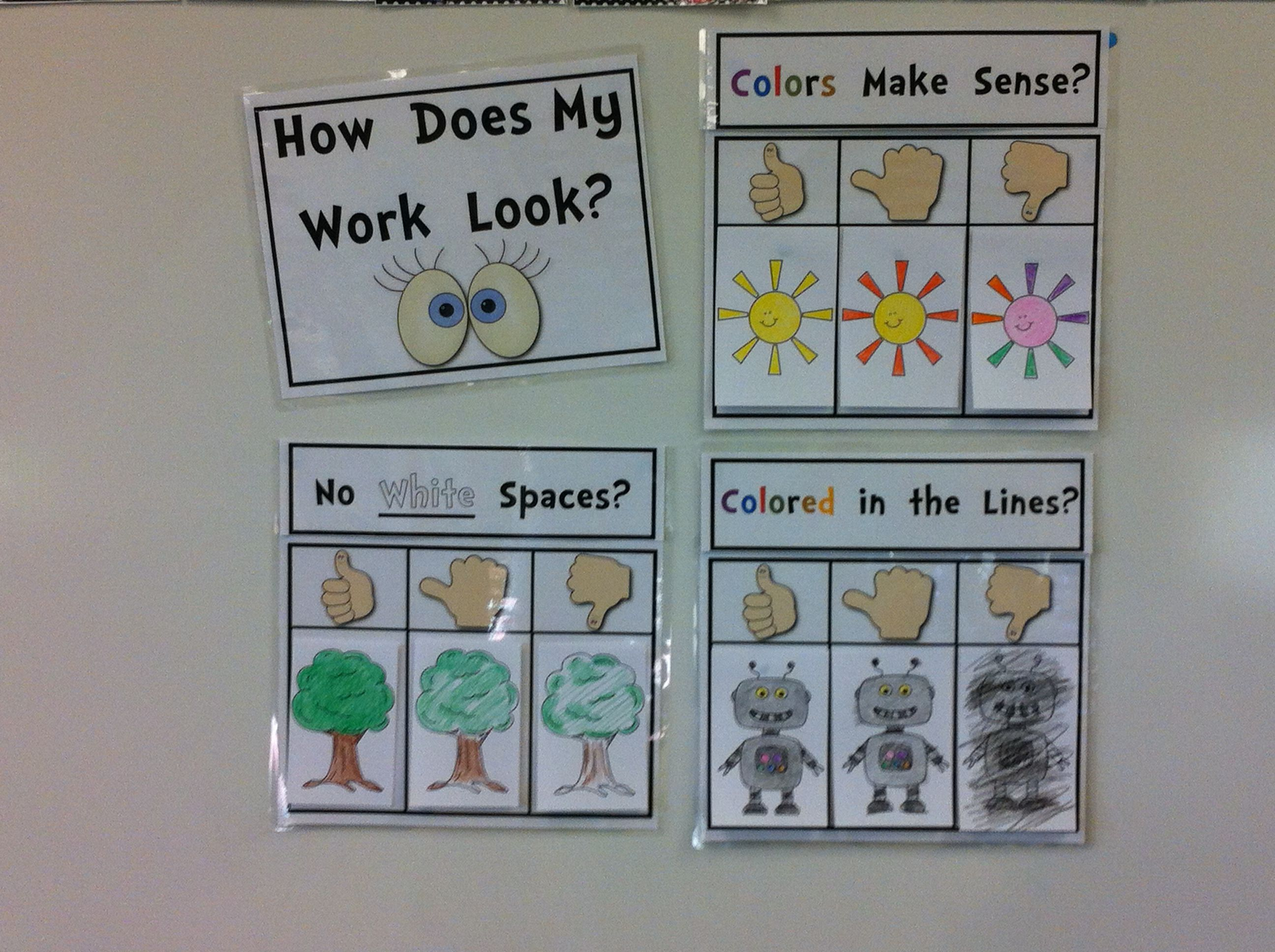 Coloring Rubric for the Primary Classroom {How Does My Work Look ...