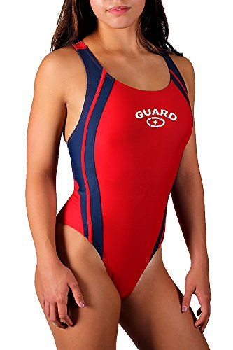 8d6d67d50e4506 Adoretex Womens Lifeguard Wide Strap Splice Swimsuit One Piece ...