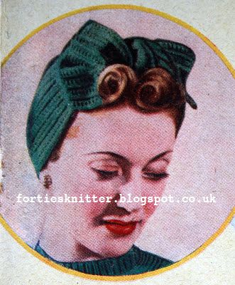 The Vintage Pattern Files  1940 s Knitting - Knit Yourself a Turban ... a434bb03e71