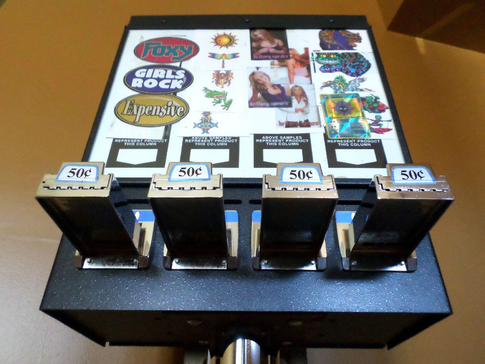 4 column sticker tattoo bulk vending machine with stand