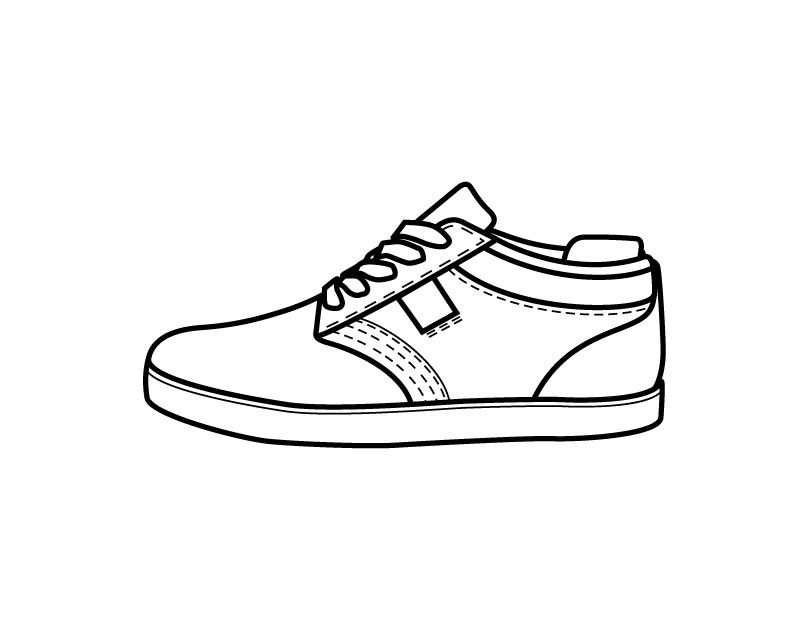 Lovely Shoes Coloring Pages 25 With Additional Coloring Books With Shoes  Coloring Pages Shoes Clipart, Shoe Template, Children Shoes