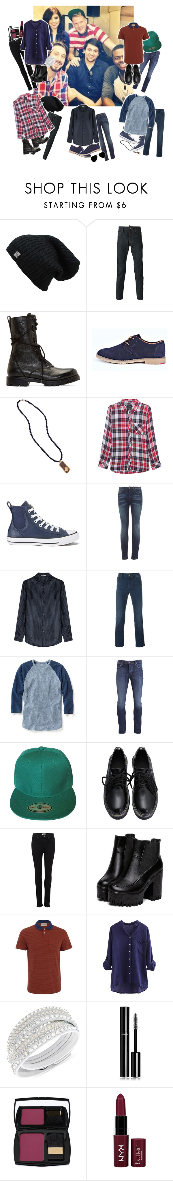 """""""11.pentatonix is my life :*"""" by be-happy-now ❤ liked on Polyvore featuring Dsquared2, Helmut Lang, Boohoo, Rails, Converse, HUGO, AG Adriano Goldschmied, Versace, Old Navy and Neuw"""