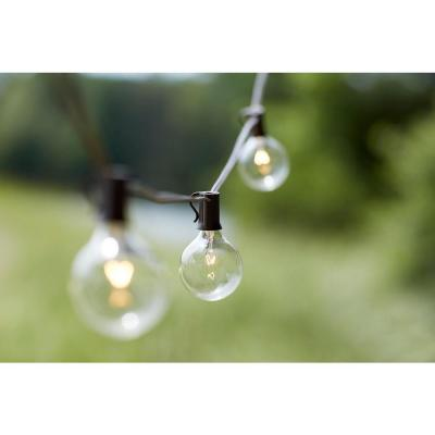 Solar String Lights Home Depot Amazing 10Light Outdoor Clear Hanging Garden String Lightkf19001  The Decorating Inspiration