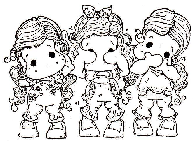 Risco, meninas, bonecas, artesanato, pintura de tecido, modelo.