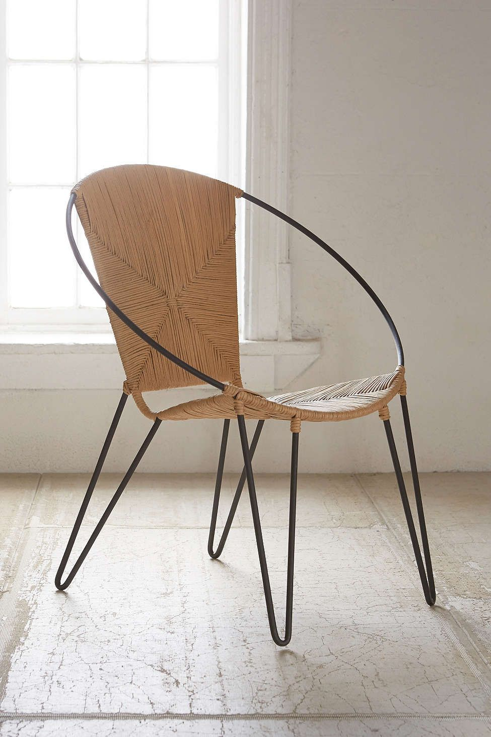Above: The Anais Chair From Urban Outfitters Has An Iron Frame And Paper  Rush Seat