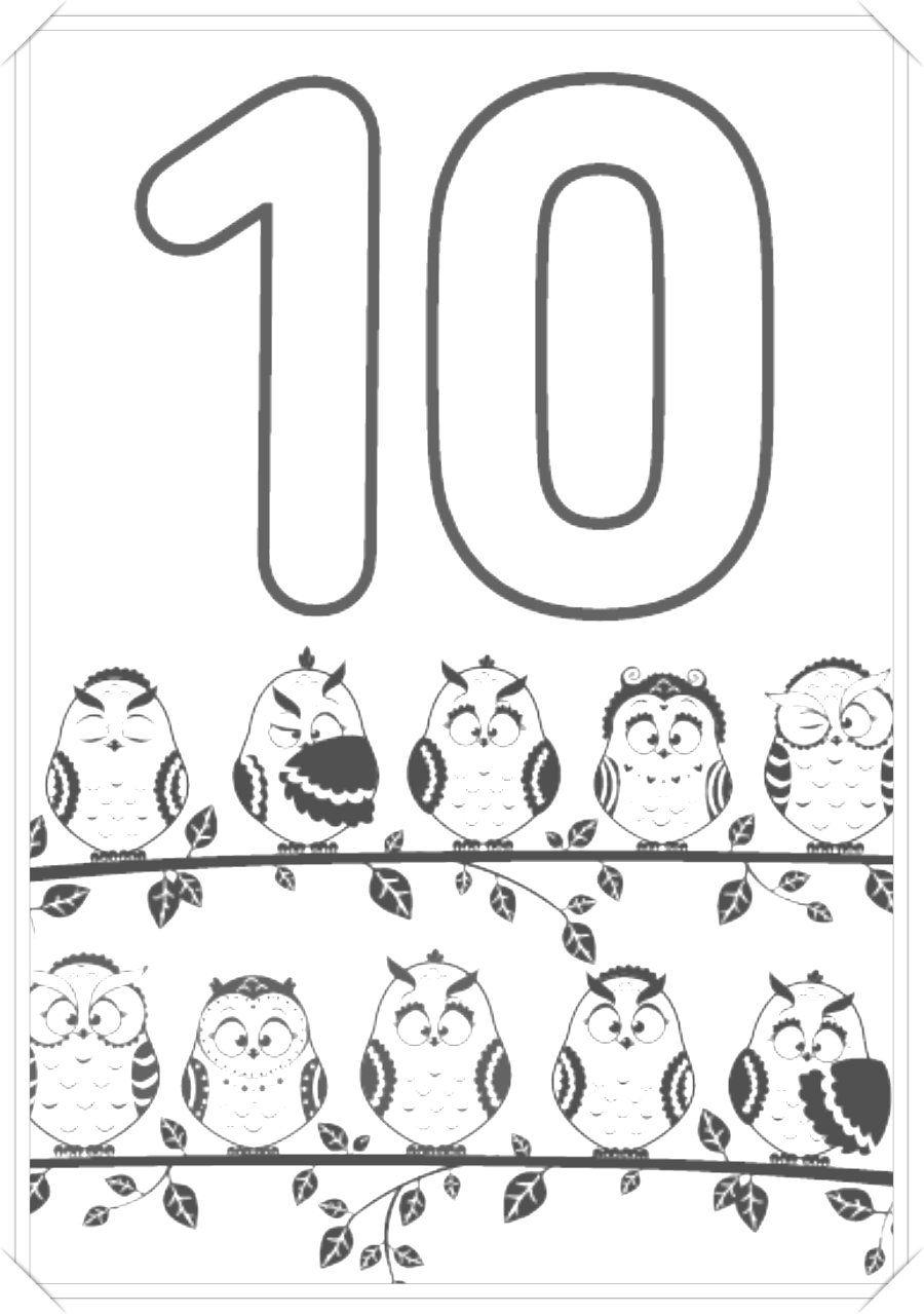 Numeros Para Colorear 150 Dibujos De Numeros Para Pintar Y