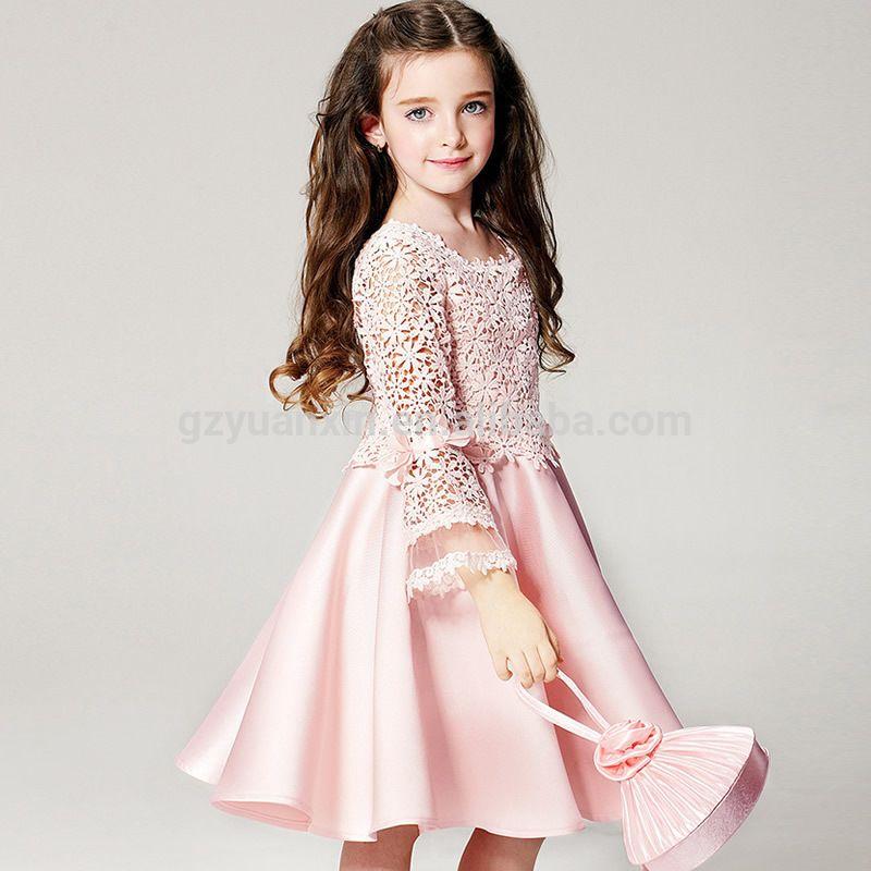 3507959d09 2016 cetim vestido da menina flor padrões de renda vestido para as meninas  12 anos de verão-imagem-Vestidos para meninas-ID do…