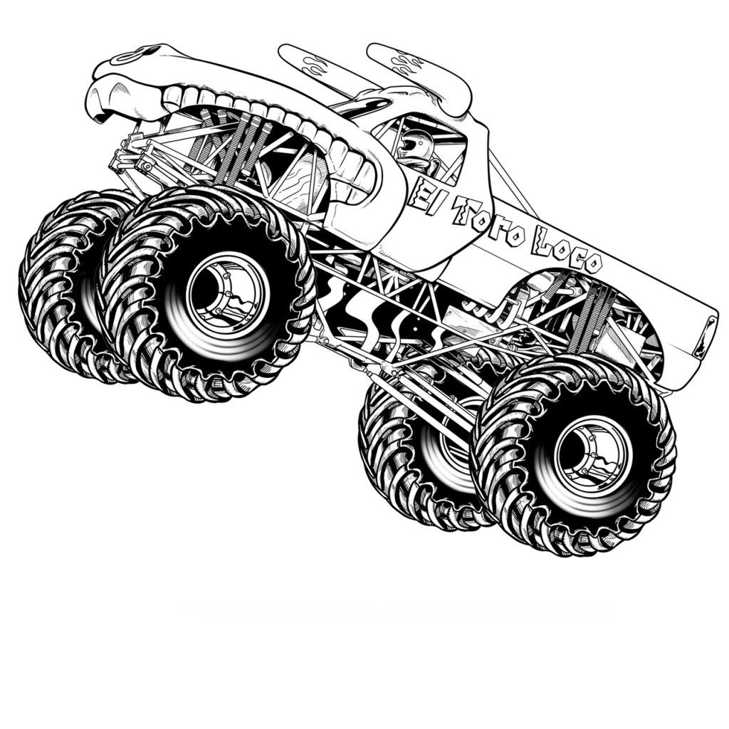 Hot wheels monster jam coloring pages coloring page for Wheel coloring page