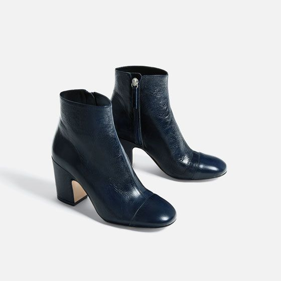 2151a4b4f5ae ZARA - WOMAN - LEATHER HIGH HEEL ANKLE BOOTS