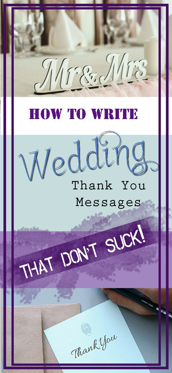 Confused about writing thank you messages for your wedding