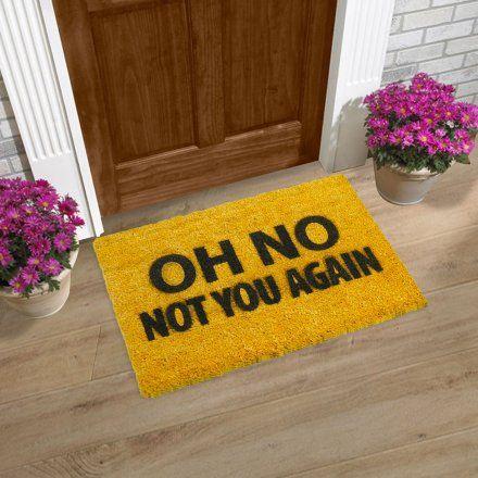 Artsy Doormats Zerbino Not You Again Lovepromo