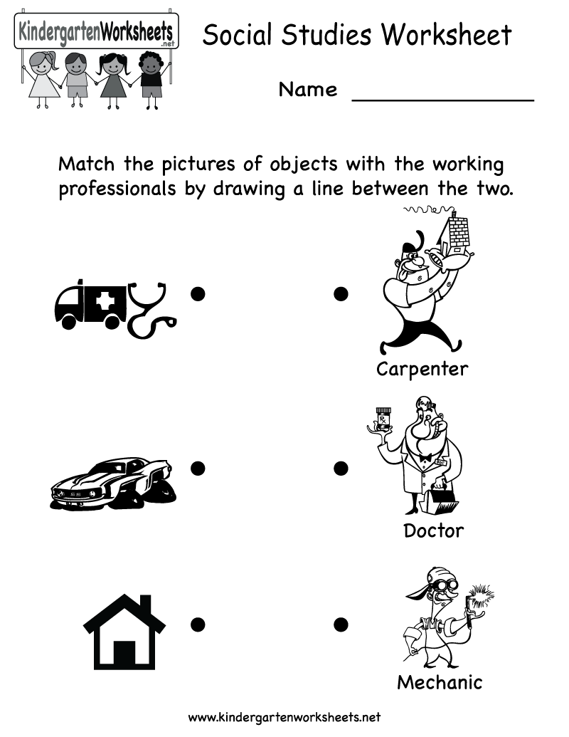 Workbooks landform matching worksheets : Kindergarten Social Studies Worksheet Printable | Worksheets ...