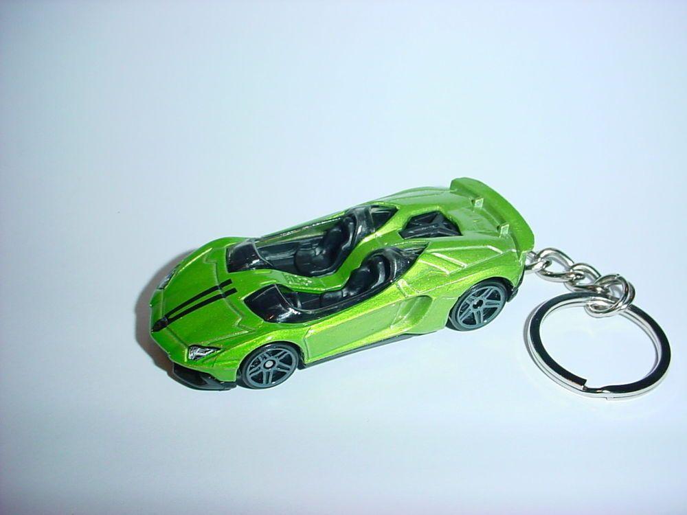 New 3d Lamborghini Aventador J Custom Keychain Key Chain Keyring
