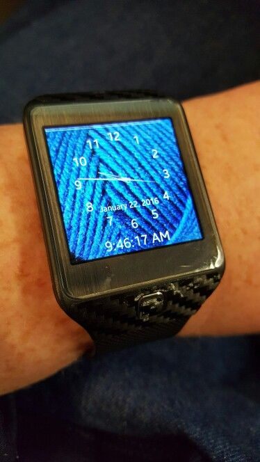 Yarn watch face. Take a pic, change color if desired (to