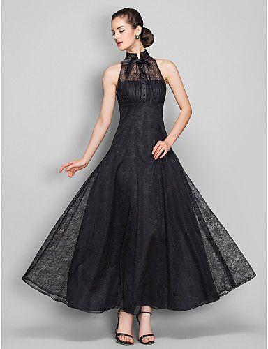 vestido de noche de encaje una línea de alta cuello hasta los tobillos  (699490) - USD   99.99 c64558bf1bad