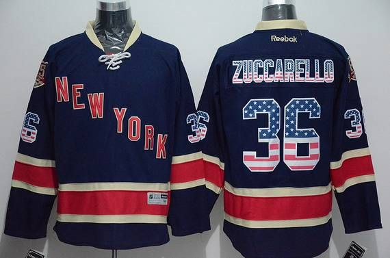 pretty nice aadac d2aa7 Men's New York Rangers #36 Mats Zuccarello Reebok Navy Blue ...