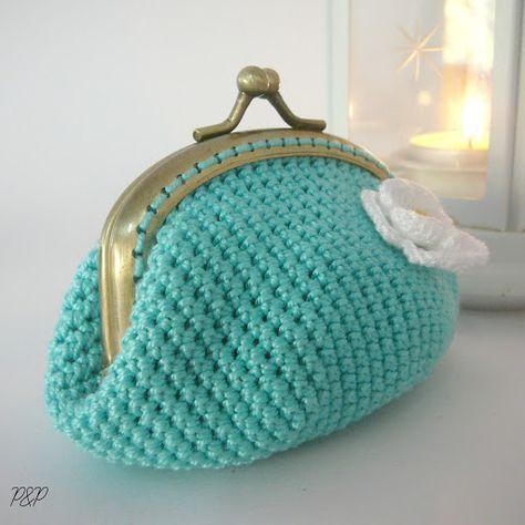 Pitusas Petetes Monedero De Ganchillo Patron Basico Porte - Monedero-crochet-patron