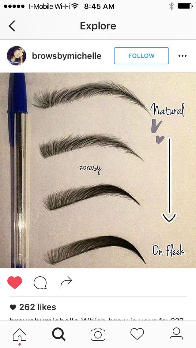 Dibujo Maquillaje Pinterest Dibujo, Maquillaje y Para dibujar - tipos de cejas