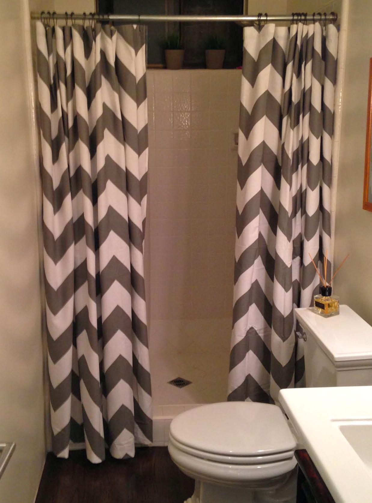 Brown And Tan Chevron Shower Curtain