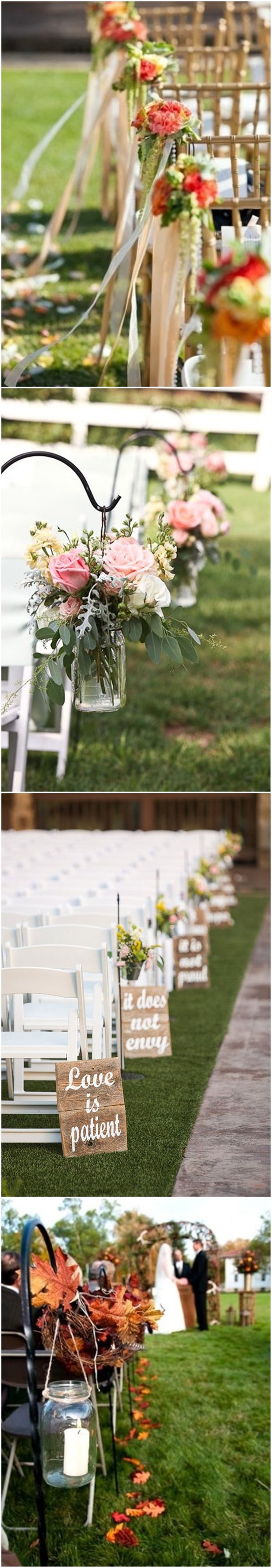 29 Awesome Wedding Aisle Decorations For Fall Wedding Pinterest