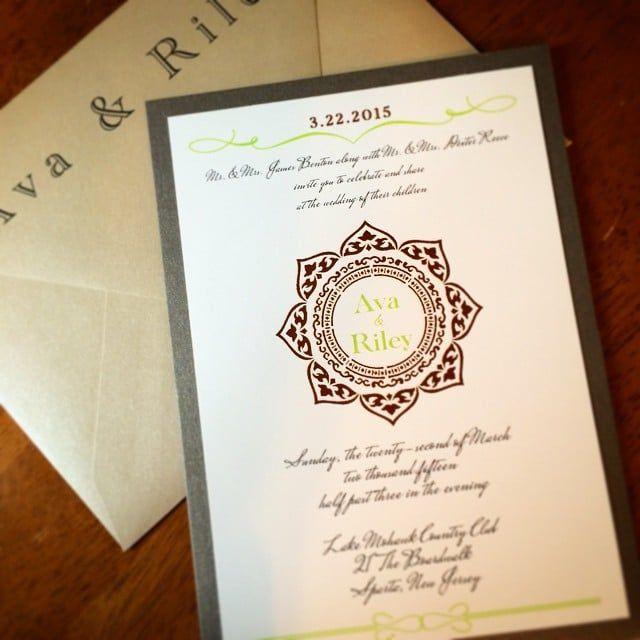 Bohemian Henna Wedding Invitations By Eleven Pixel Elevenelevenpixel