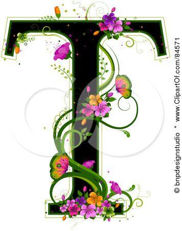 Letter T Clipartof Com Initials Pinterest Letras Abecedario