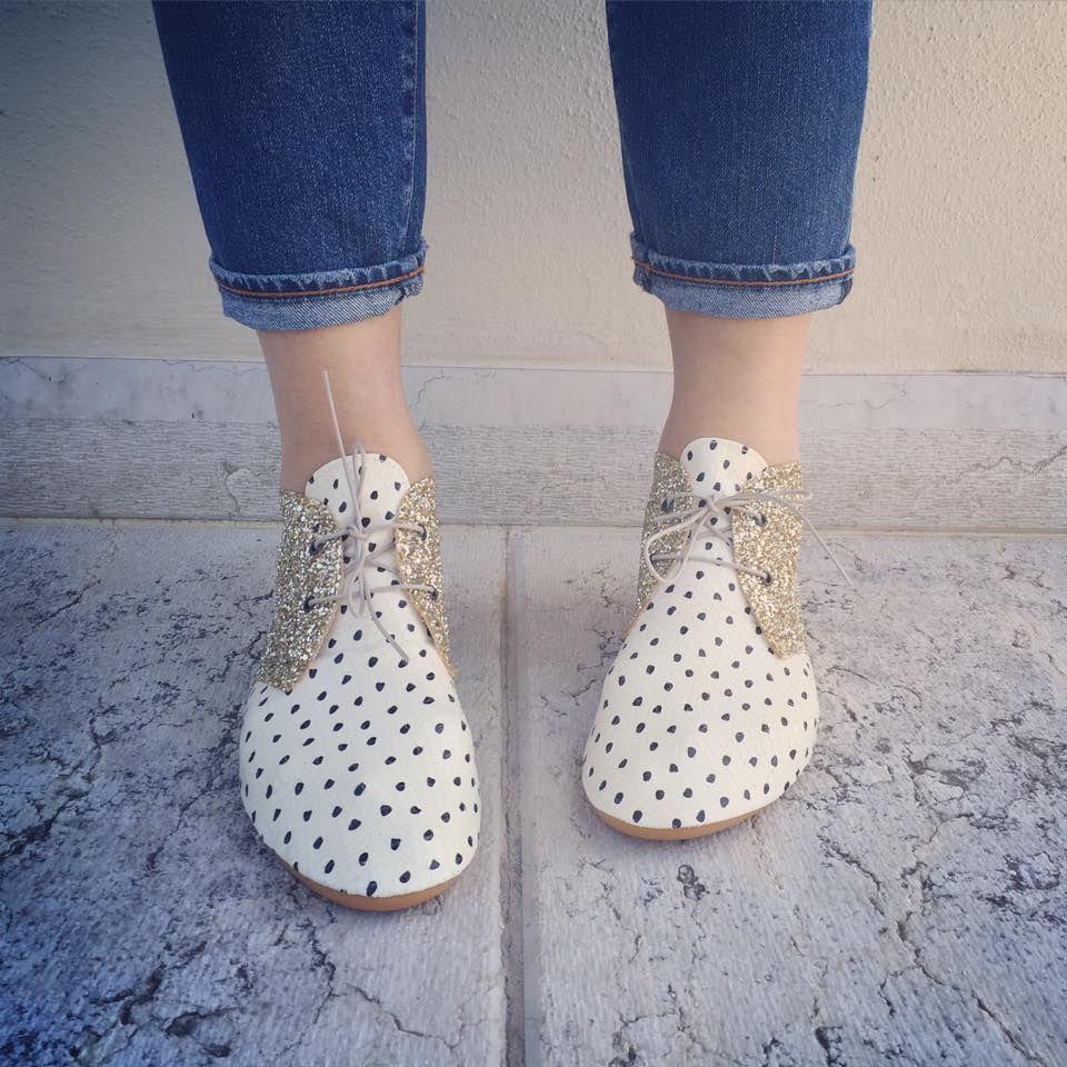 Gray polka dot shoes Anniel WJCV8xxj3U