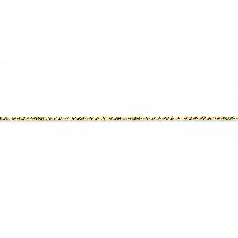 14k White Gold 1.7mm Diamond-Cut Rope Chain Necklace Bracelet Anklet 6-30