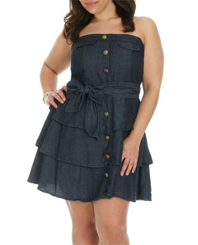 Ruffle Military Tube Dress Plus Size From Wet Seal Up To A Size