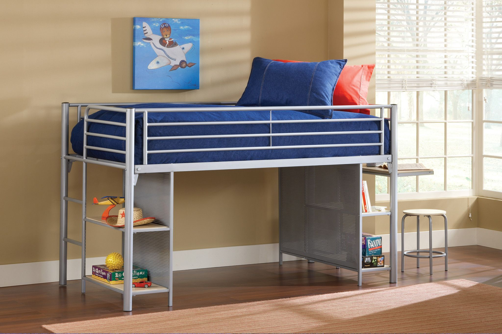 Loft bed with desk cheap  buy Hillsdale Universal Junior Loft Bed wCloth Doors Desk and