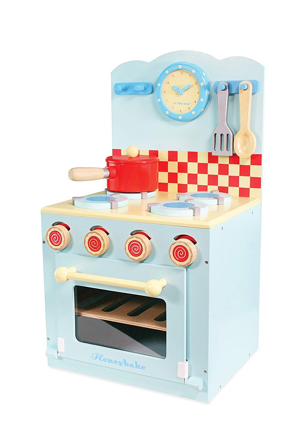 Le Toy Van Honeybake Wooden Oven And Hob Playset Blue Amazon Co Uk Toys Games Play Kitchen Accessories Oven Hob Oven And Hob