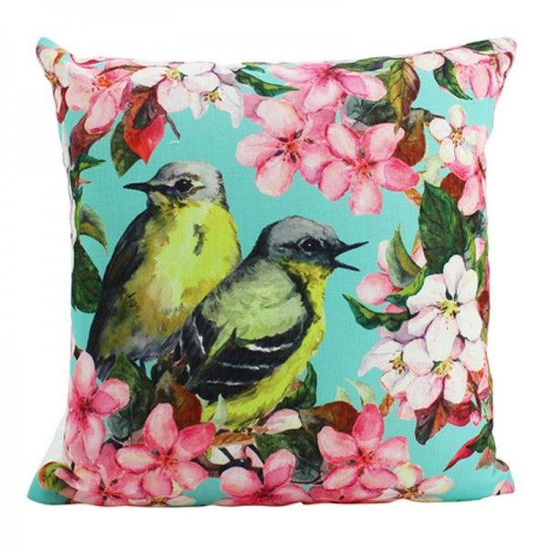Homewares and Home Decor Online Birds and Blossoms Cushion