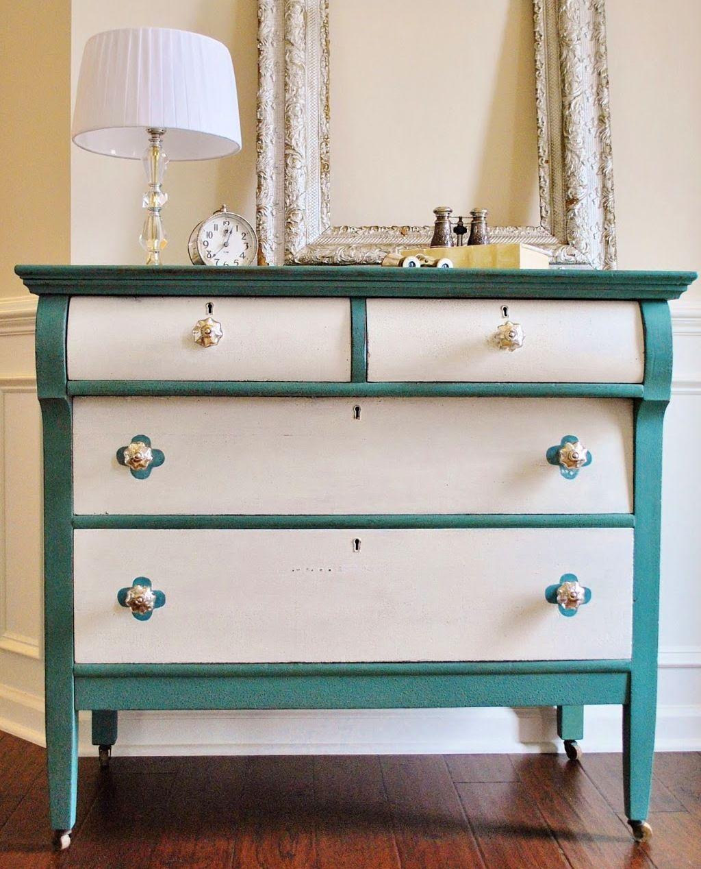 Interessante Möbel-Streichen-Ideen | Blau und Weiß, Blau und Möbel