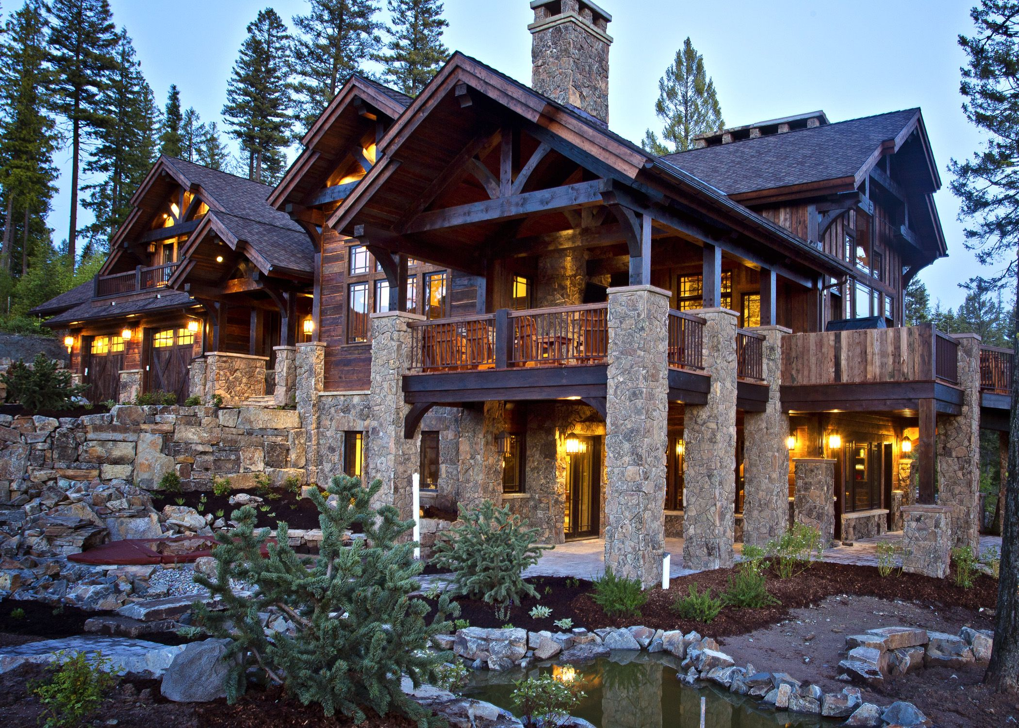 Sugar bowl custom residence frontier builders rustic for Mountain cabin homes