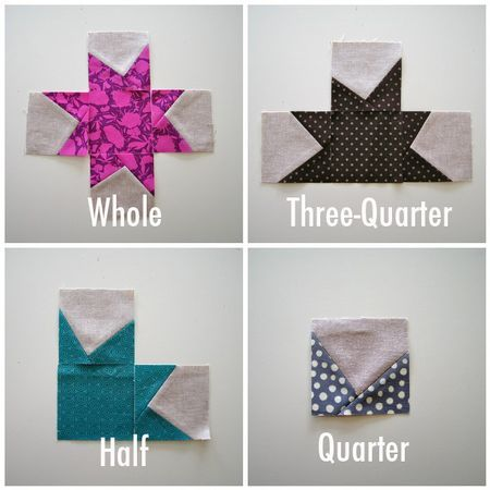 """Wonky Stars """"Today's post is about how to make the stars. I say make the stars instead of make the blocks because the way this quilt top comes together is a little different than other star quilts you might have seen."""" Elizabeth Hartman"""