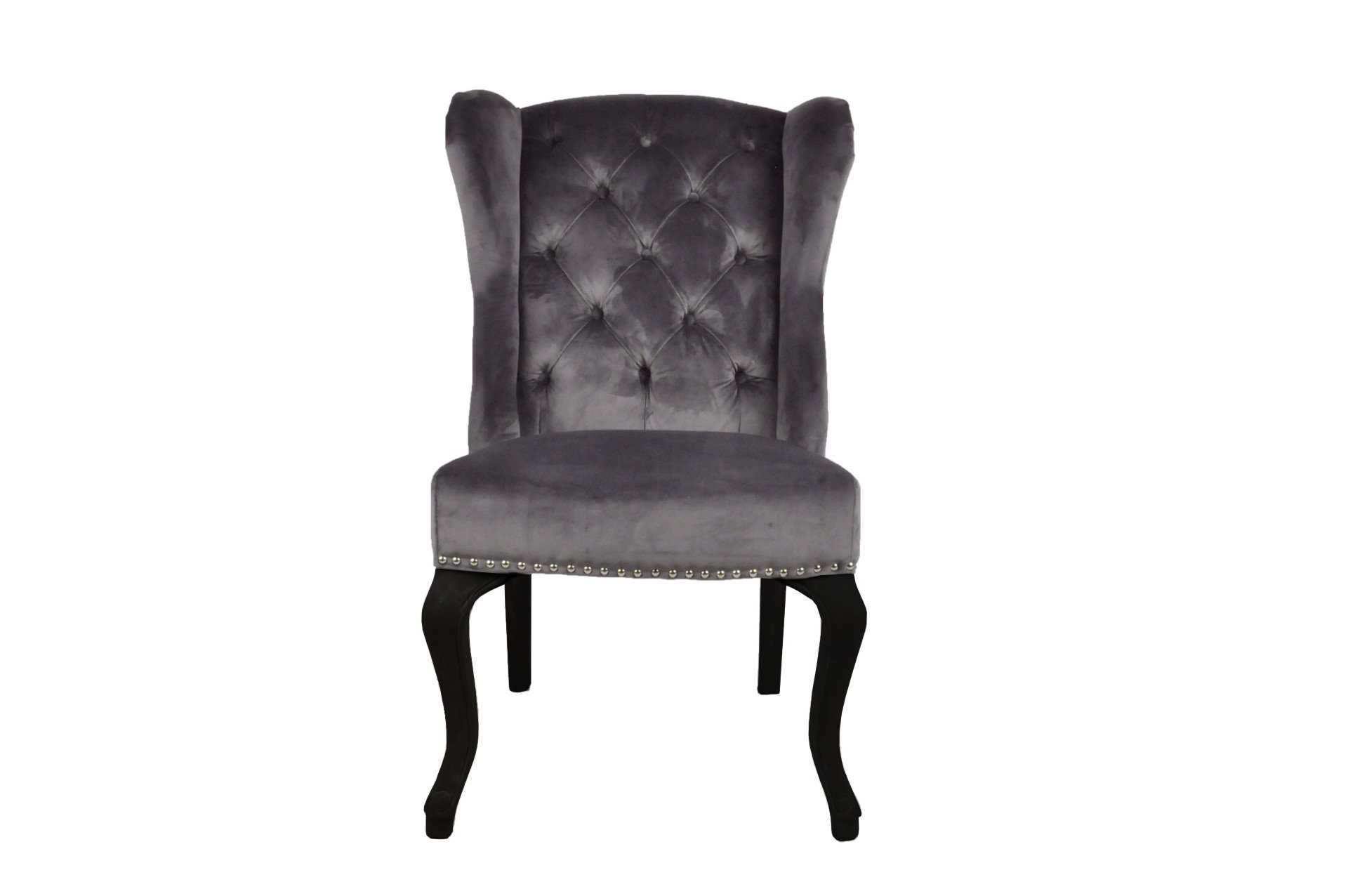 Dark Grey Luxury Wing Back Dining Chairs Luxury Dining Chair