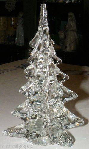 vintage art glass twisted silvestri glass christmas tree heavy crystal figure ebay - Ebay Christmas Trees